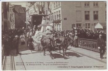 AK Brügge Bruges Brugge Procession du Saint-Sang Belgien 1920