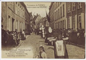 AK Furnes Veurne Procession Nr. 23 Westflandern Belgien 1910