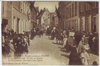 AK Furnes Veurne Procession De Besnijdenis Nr. 8 Westflandern Belgien 1910