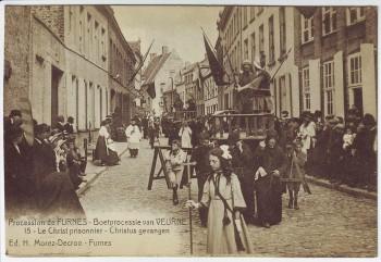 AK Furnes Veurne Procession Le Christ prisonnier Nr. 15 Westflandern Belgien 1910