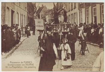 AK Furnes Veurne Procession Jardin des Oliviers Nr. 13 Westflandern Belgien 1910
