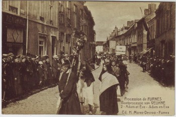 AK Furnes Veurne Procession Adam en Eva Nr. 2 Westflandern Belgien 1910