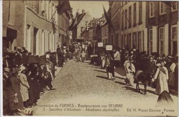 AK Furnes Veurne Procession Sacrifice d' Abraham Nr. 3 Westflandern Belgien 1910