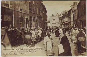 AK Furnes Veurne Procession Les Prophetes Nr. 4 Westflandern Belgien 1910