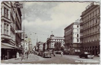 AK Foto Wien I. Kärntnerstraße Autos Geschäfte Österreich 1957