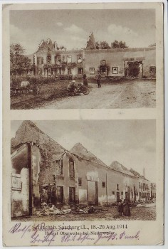 AK Hofgut Oberweiler bei Niederweiler Niderviller Schlacht b. Saarburg Moselle Lothringen Frankreich 1.WK 1914
