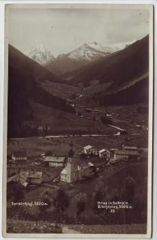 AK Foto Gries im Sellrain Ortsansicht mit Fernerkogl Tirol Österreich 1926