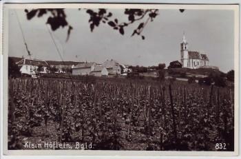 AK Foto Kleinhöflein im Burgenland Ortsansicht mit Kirche bei Eisenstadt Österreich 1954 RAR