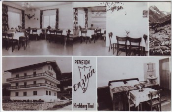 AK Mehrbild Kirchberg in Tirol Pension Enzian Österreich 1960