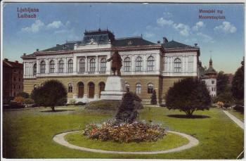 AK Ljubljana Laibach Museumsplatz Slowenien 1915