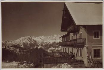AK Foto Falzeben Albergo Rosa Alpina bei Meran Südtirol Italien 1950