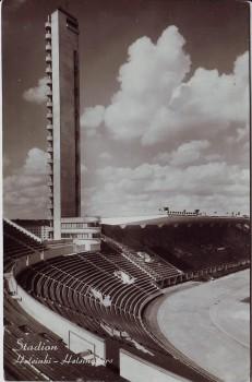 AK Foto Helsinki Helsingfors Blick ins Stadion Finnland 1960