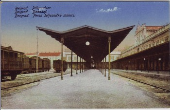 AK Beograd Belgrad Београд Blick auf Bahnhof Serbien 1920