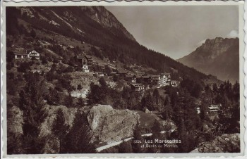 AK Foto Les Marécottes Dents de Morcles bei Martigny VS Schweiz 1950