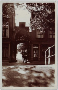 AK Foto Delft Oud Poortje Bagijnhof Zuid-Holland Niederlande 1940