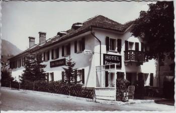 AK Foto Simplon Dorf Hotel Fletschhorn VS Schweiz 1960