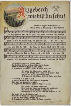AK Liedkarte Anton Günther Arzgeberch wie bist du schü ! Nr. 77 1930