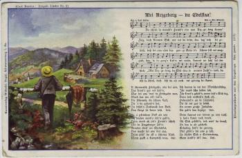 AK Liedkarte Mei Arzgeberg - du Edelstaa ! Curt Nestler Nr. 2 1920
