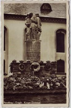 AK Foto Annaberg im Erzgebirge Krieger-Ehrenmal mit Kränzen 1940