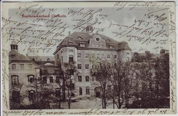 AK Chemnitz Stadtkrankenhaus 1912
