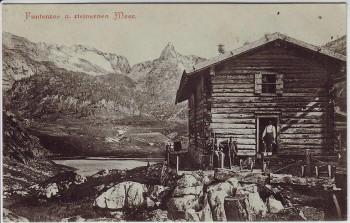 AK Funtensee am steinernen Meer mit Schutzhaus bei Schönau am Königssee 1900