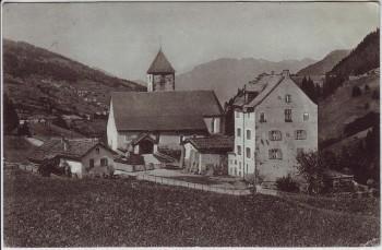 AK Churwalden Kirche und Kloster GR Schweiz 1915
