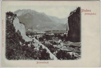AK Bludenz Arlbergbahn Bürserschlucht Ortsansicht Vorarlberg Österreich 1910