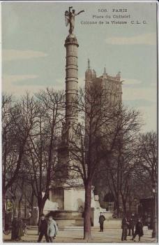 AK Paris Place du Chatelet Colonne de la Victoire Frankreich 1910