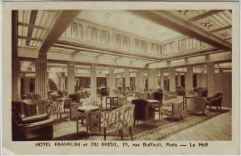AK Paris Hotel Franklin et du Bresil 19 rue Buffault Frankreich 1949