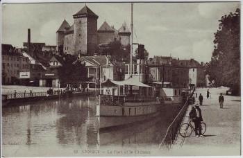 AK Annecy Le Port et le Chateau Frankreich 1910
