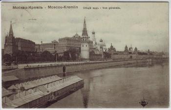 AK Mockba Moskau Ortsansicht mit Kreml Russland 1912