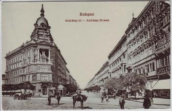 AK Budapest Andrassy Strasse Ungarn 1910