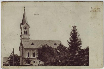 AK Gruß aus Illischestie Ilișești Kirche Bukowina Rumänien 1920 RAR