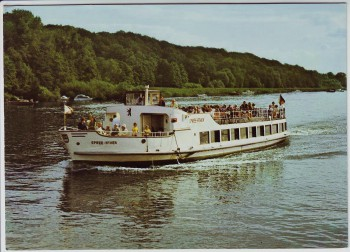 AK Foto MS Spree-Athen Reederei Krüger Schiff Berlin 1970