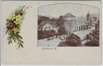 AK Passepartout Goslar am Harz Ortsansicht 1900
