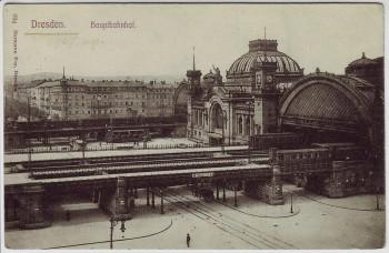 AK Dresden Hauptbahnhof 1910