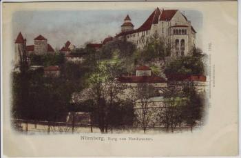 AK Nürnberg Burg von Nordwesten 1902
