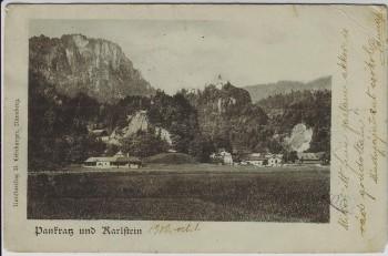 AK St. Pankraz und Karlstein (Bad Reichenhall) 1900
