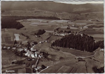 AK Foto Bierhütte Luftbild Fliegeraufnahme bei Hohenau Niederbayern 1980