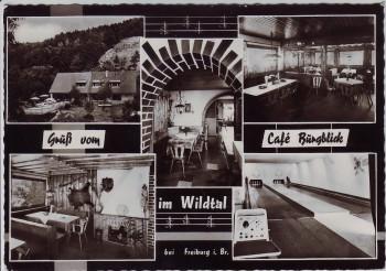AK Mehrbild Wildtal bei Gundelfingen (Breisgau) Gruß vom Cafe Burgblick 1960
