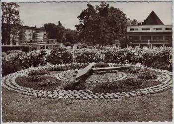 AK Foto Mülheim an der Ruhr Blumenuhr am Wasserbahnhof 1969