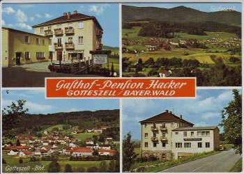 AK Mehrbild Gotteszell Gasthof Pension Hacker 1970