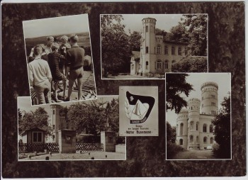 AK Mehrbild Binz auf Rügen Station der jungen Touristen Walter Husemann Granitz Ostsee 1967