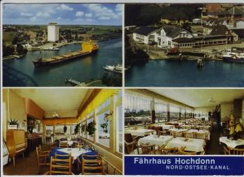 AK Mehrbild Fährhaus Hochdonn Nord-Ostsee-Kanal 1970