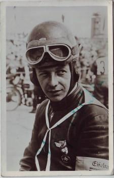 AK Foto Autograph Walfried Winkler Rennfahrer Motorrad Auto-Union DKW signiert Autogramm 1940 RAR