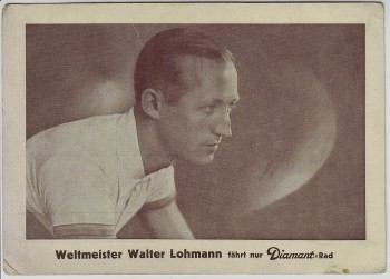 AK Foto Walter Lohmann Weltmeister Radrennfahrer Radsport Diamant Fahrrad 1937 RAR