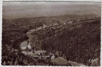 AK Foto Malsch (Landkreis Karlsruhe) Standke's Waldhaus Luftbild 1957