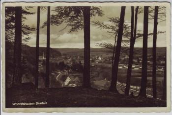 AK Foto Wolfratshausen Ortsansicht dürch Bäume Isartal 1930