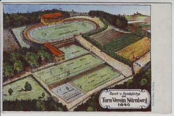 Künstler-AK Turn-Verein Nürnberg 1846 Waldspielplatz Erlenstegen 1944 RAR