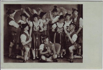 AK Blaichach Schuhplattlergruppe Heimat-Verein in Trachten 1939 RAR